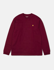 Carhartt Chase Long Sleeve T-Shirt - Mulberry