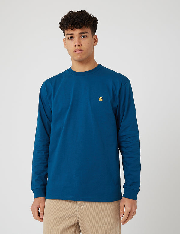 Carhartt-WIP Chase Long Sleeve T-Shirt - Corse/Gold