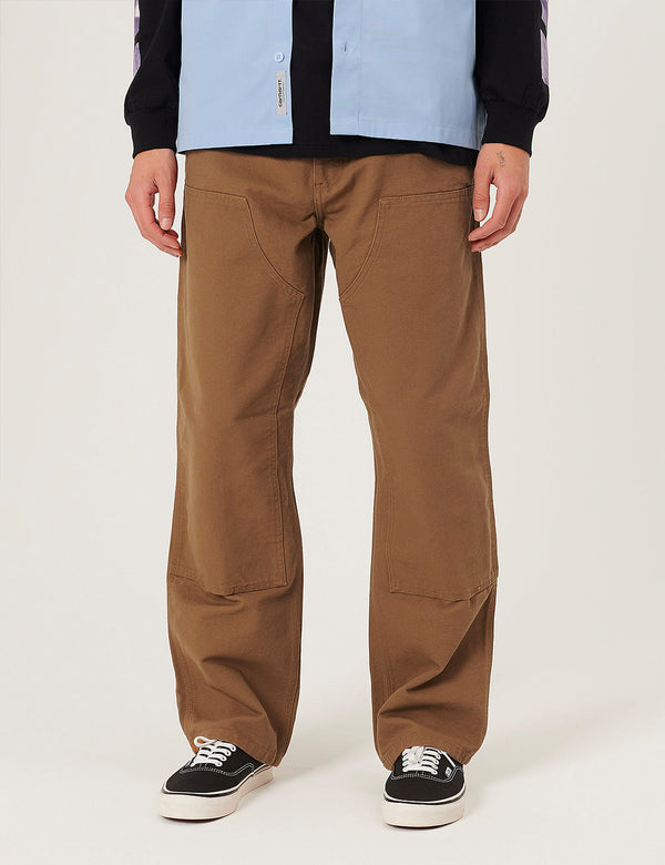 Carhartt-WIP Double Knee Pant - Hamilton Brown rinsed