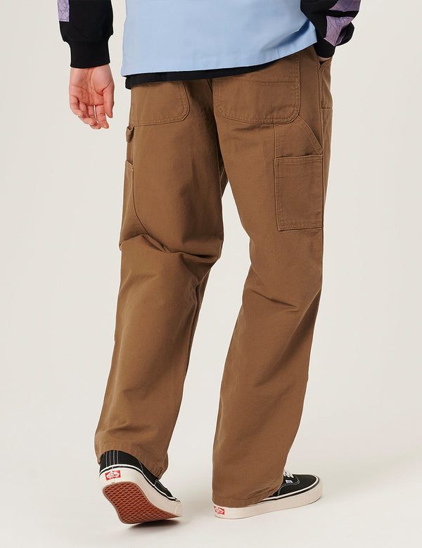 Pantalon Carhartt-WIP Double Knee - Hamilton Brown rinsed
