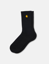 Carhartt-WIP Chase Socks - Black/Gold