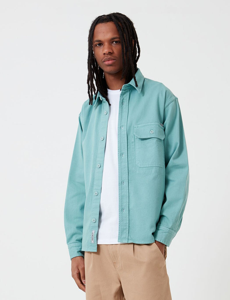 Carhartt-WIP Reno Shirt (Denim) - Zola Green