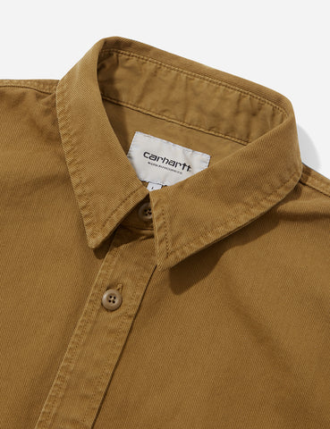Carhartt Reno Shirt (Overdyed Denim) - Hamilton Brown