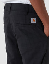 Carhartt-WIP Taylor Pant (Diamond Stretch Wool 6 oz) - Armstrong Check, Black rigid