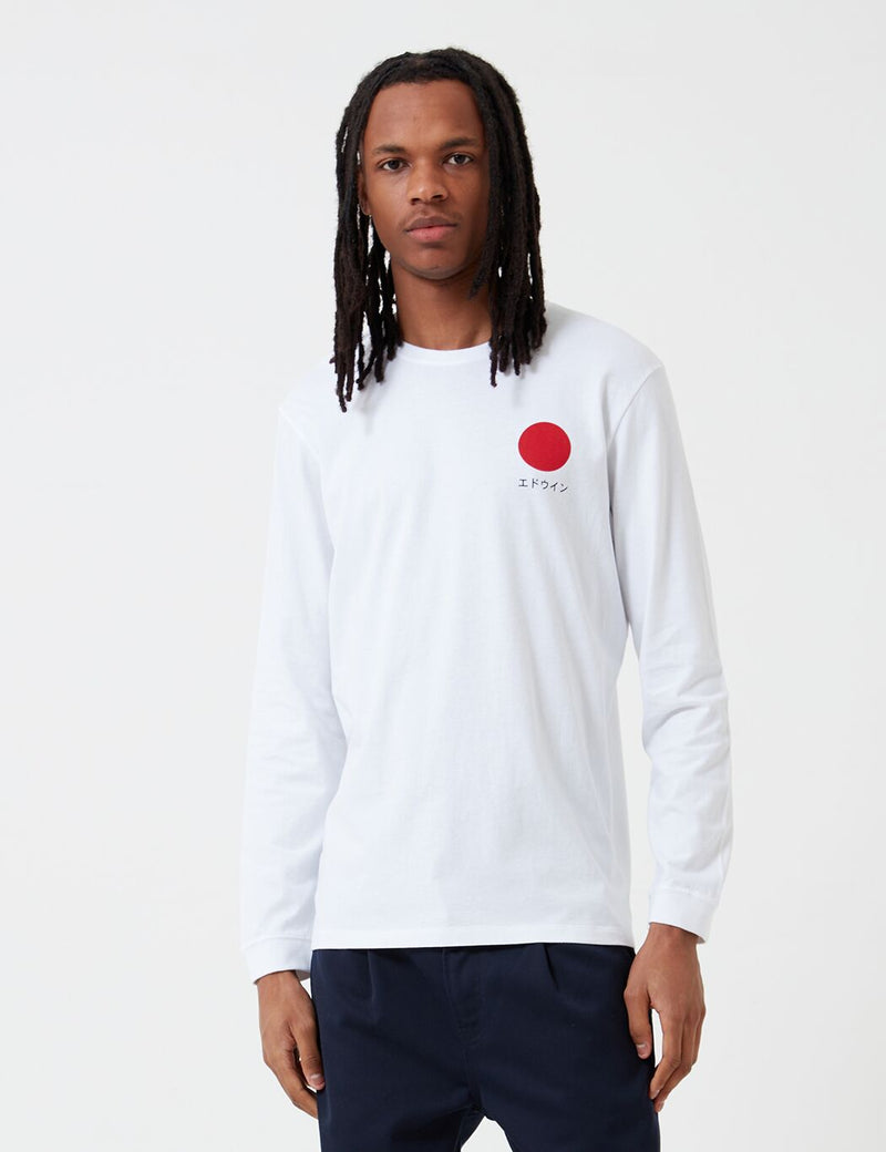 Edwin Japanese Sun Long Sleeve T-Shirt - White