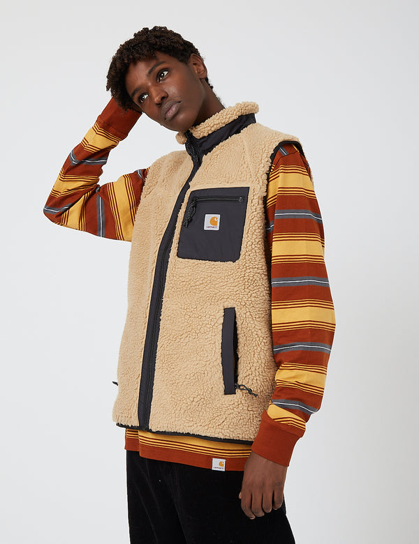 Carhartt-WIP Prentis Vest Liner (Pile Fleece) - Dusty Hamilton Brown