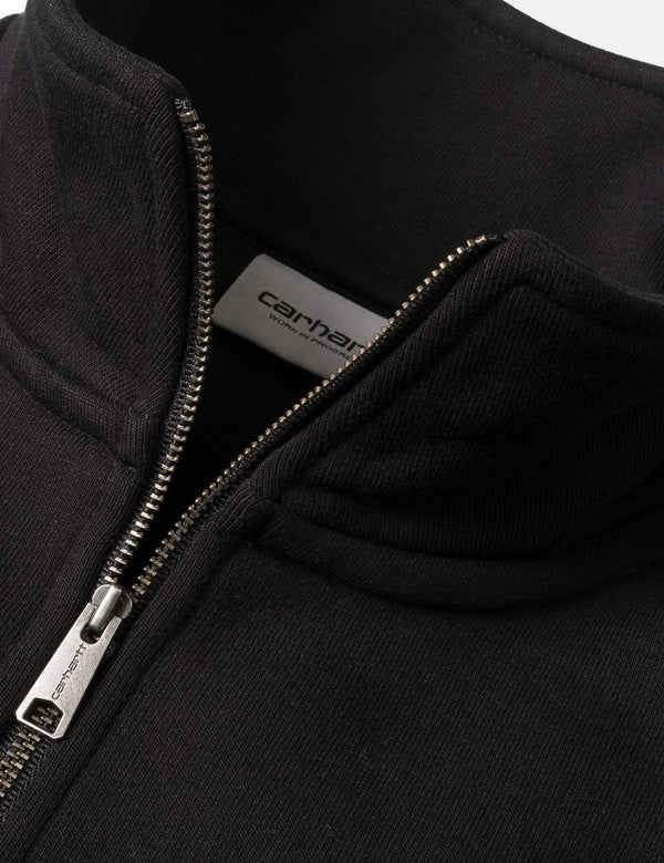 Sweat à capuche Carhartt-WIP Chase Quarter-Zip - Black