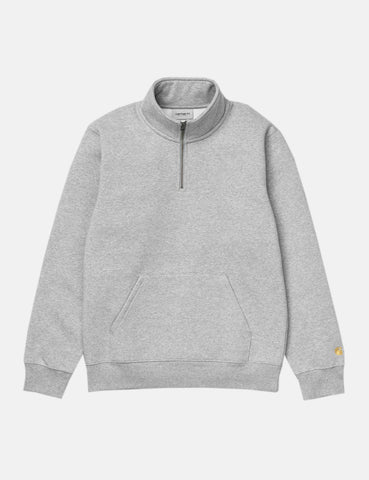 Carhartt Chase Quarter-Zip High Neck Sweatshirt - Heather Grey