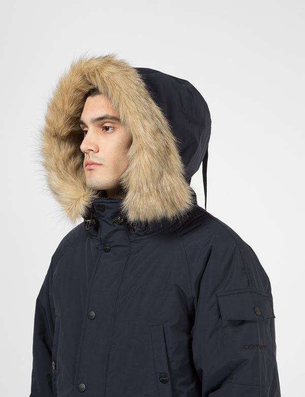 Carhartt-WIP Anchorage Parka - Dark Navy / Black