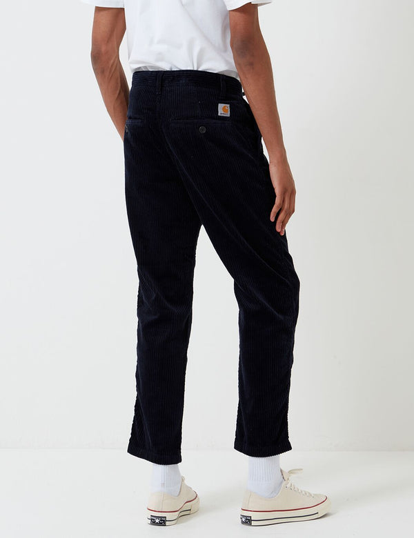Pantalon Carhartt-WIP Menson (Stretch Velours côtelé, 10.9oz) - Dark Navy rinsed