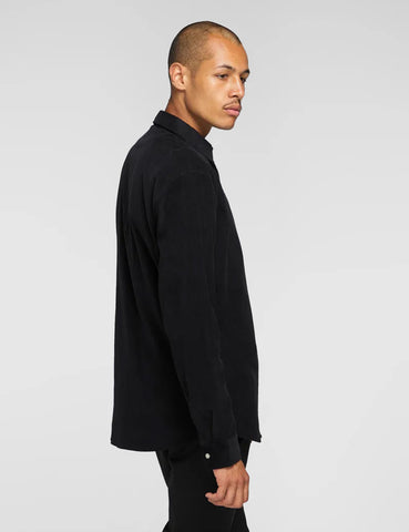 Edwin Minimal Babycord Shirt - Black