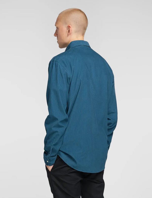 Edwin Minimal Babycord Shirt - Legion Blue