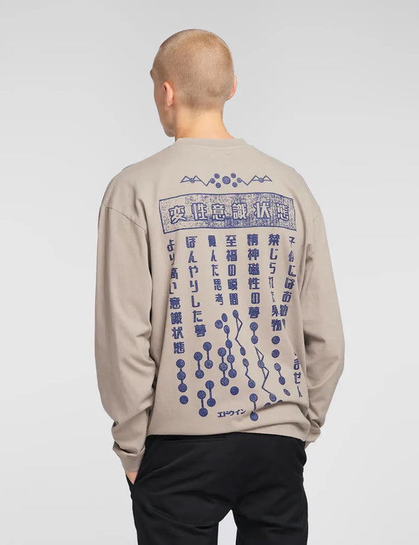 Edwin Hazy Dreams Motto LS T-Shirt - Moon Rock