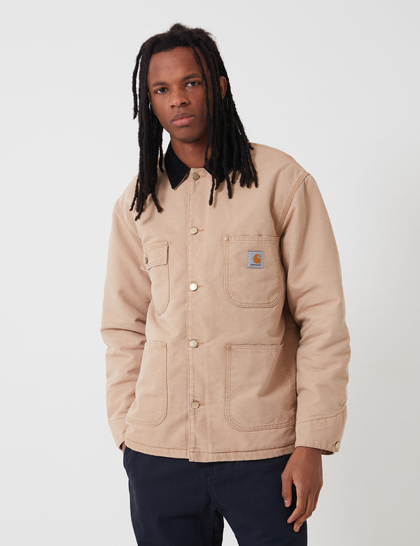 Carhartt-WIP OG Chore Coat (Organic Cotton) - Dusty Hamilton Brown/Black