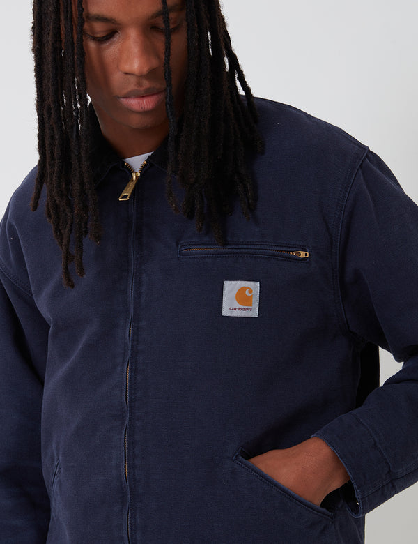 Carhartt-WIP OG Detroit Jacket (Organic Cotton) - Dark Navy/Black