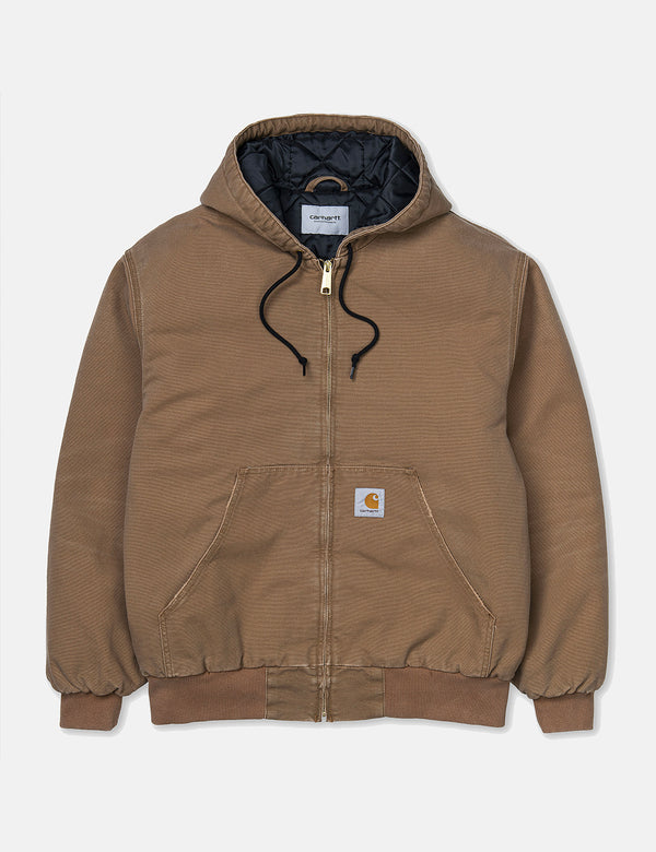 Carhartt-WIP OG Active Jacket (Organic Cotton) - Hamilton Brown Aged