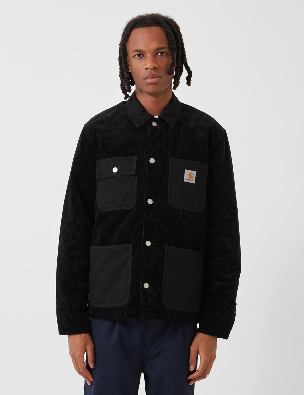 Carhartt-WIP Michigan Coat (Cord/Canvas) - Black
