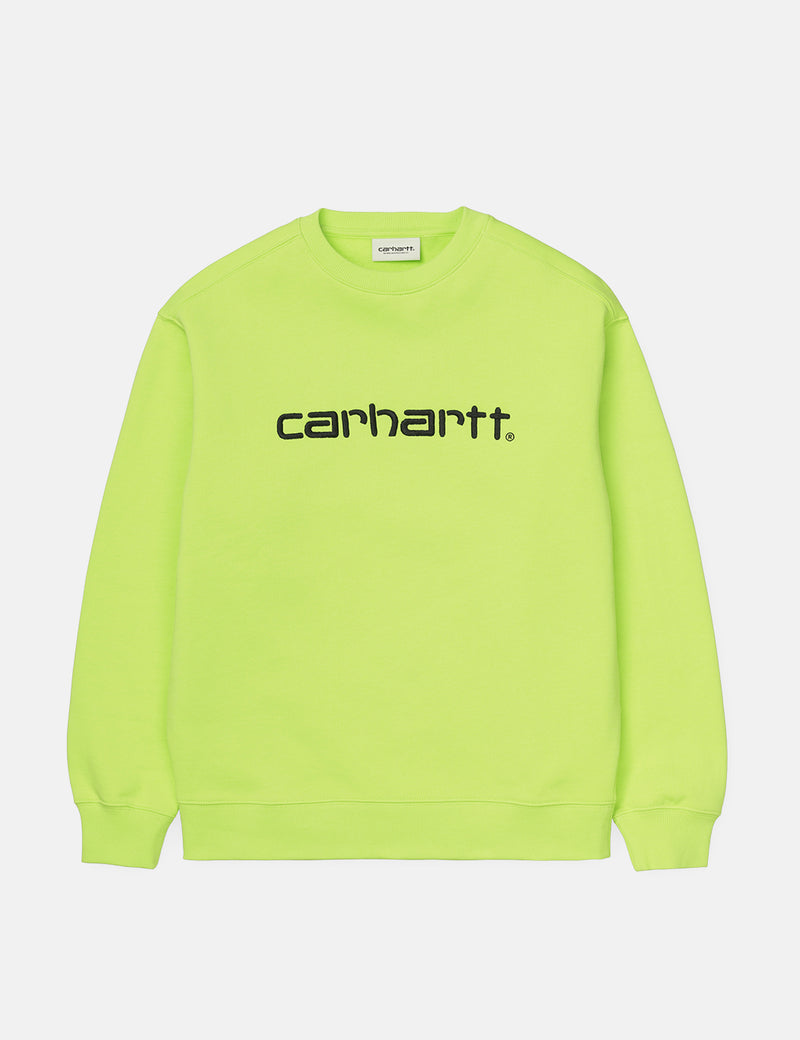 Womens Carhartt-WIP Sweatshirt - Lime/Black