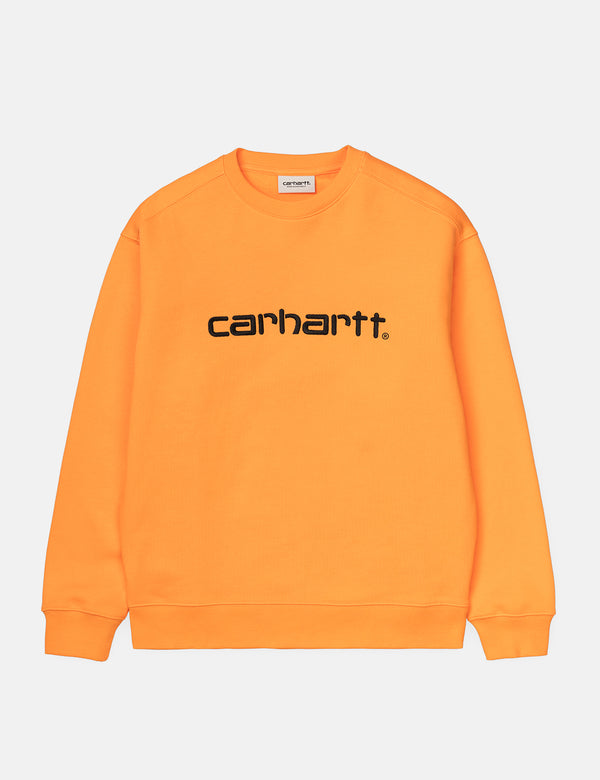 Sweat Carhartt-WIP Femme - Pop Orange/Noir