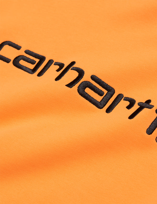Womens Carhartt-WIP Sweatshirt - Pop Orange/Black