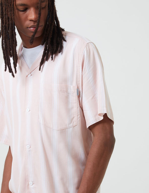 Carhartt-WIP Chester Shirt (Stripe) - Powdery Pink