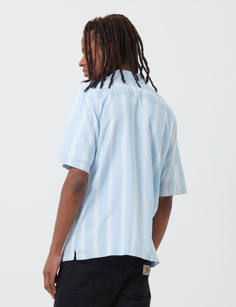 Carhartt-WIP Chester Shirt (Stripe) - Citizen Blue