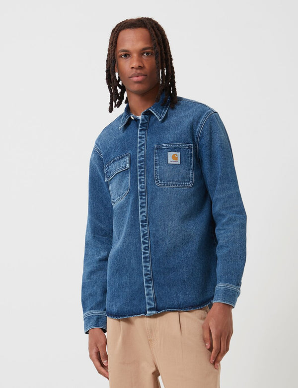 Carhartt-WIP Salinac Shirt Jacket (Denim) - Blue, Mid Worn Wash