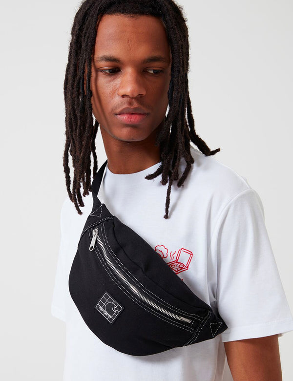 Carhartt-WIP Stratford Hip Bag - Black/White