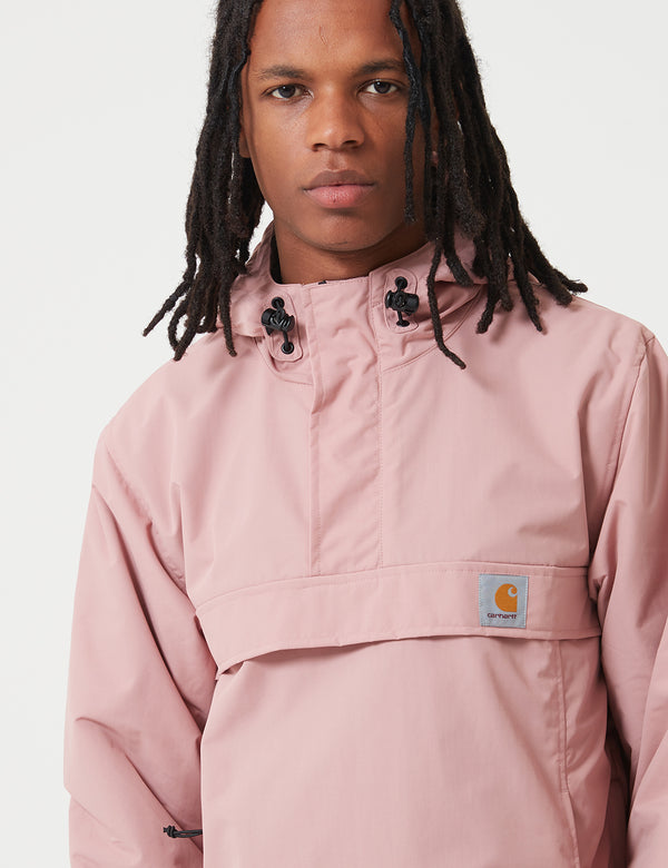 Carhartt-WIP Nimbus Half-Zip Jacket (Fleece Lined) - Blush Pink