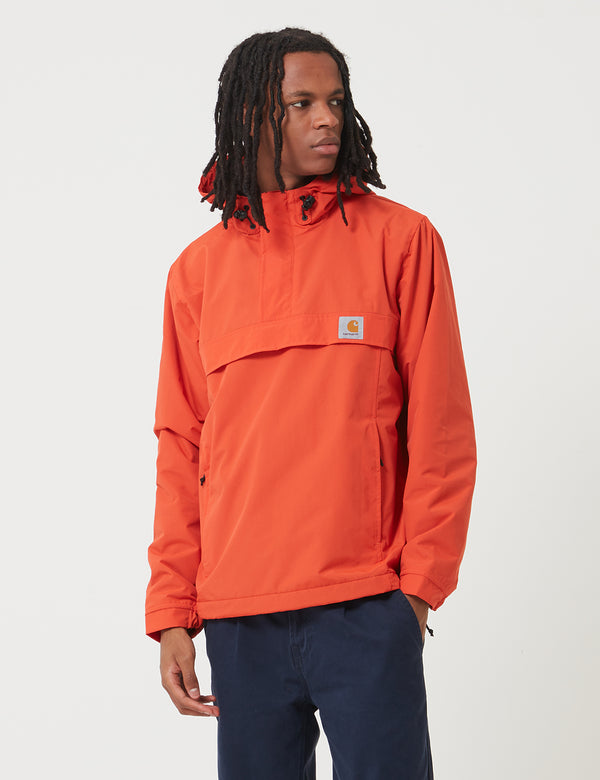 Carhartt-WIP Nimbus Half-Zip Jacket (Fleece Lined) - Brick Orange