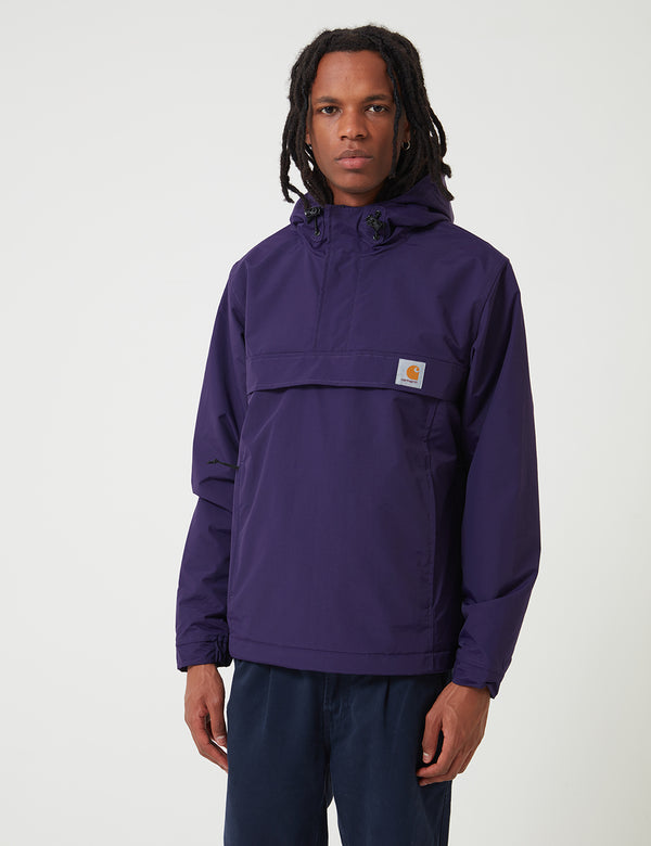 Carhartt-WIP Nimbus Half-Zip Jacket (Fleece Lined) - Royal Violet Purple