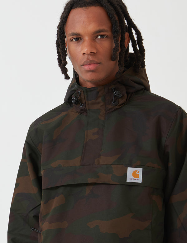 Carhartt-WIP Nimbus Half-Zip Jacket (Fleece Lined) - Camo Evergreen