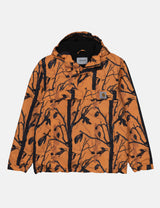 Carhartt-WIP Nimbus Half-Zip Jacket (Fleece Lined) - Camo Tree Orange