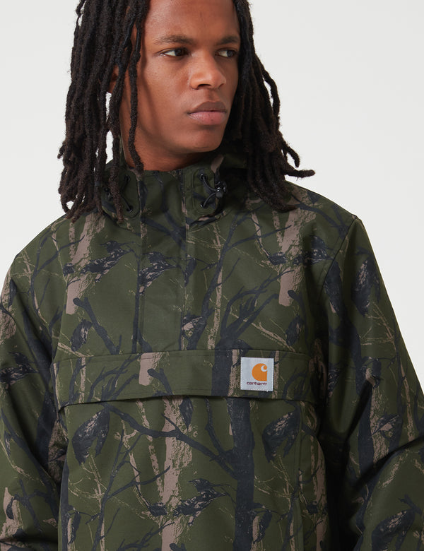 Carhartt-WIP Nimbus Half-Zip Jacket (Fleece Lined) - Camo Tree Green