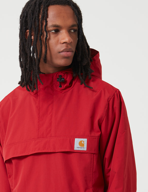 Carhartt-WIP Nimbus Half-Zip Jacket (Fleece Lined) - Blast Red