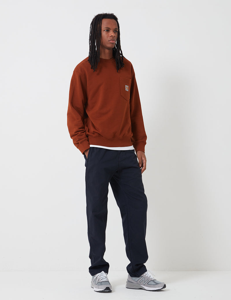 Carhartt-WIP Pocket Sweat - Brandy