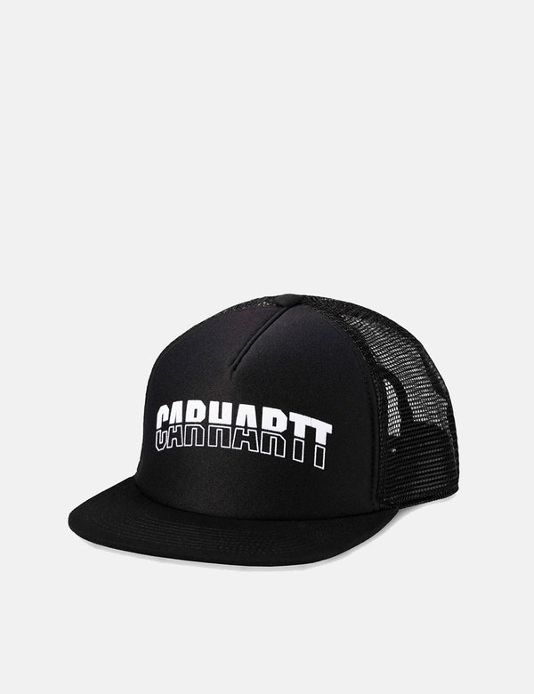 Carhartt-WIP District Trucker Cap - Black/White