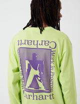 Carhartt-WIP Foundation Long Sleeve T-Shirt - Lime/Snape Purple