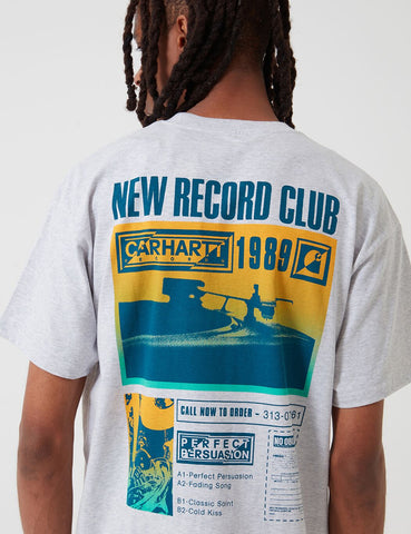 Carhartt-WIP Record Club T-Shirt - Ash Heather