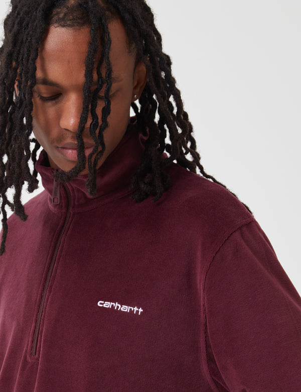 Carhartt-WIP Tila Fleece Pullover - Shiraz/White