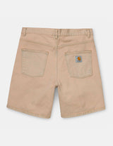 Carhartt-WIP Newel Denim Shorts - Blue, Sand Bleached