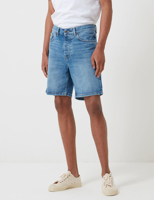 Carhartt-WIP Newel Denim Shorts - Blue, Worn Bleached