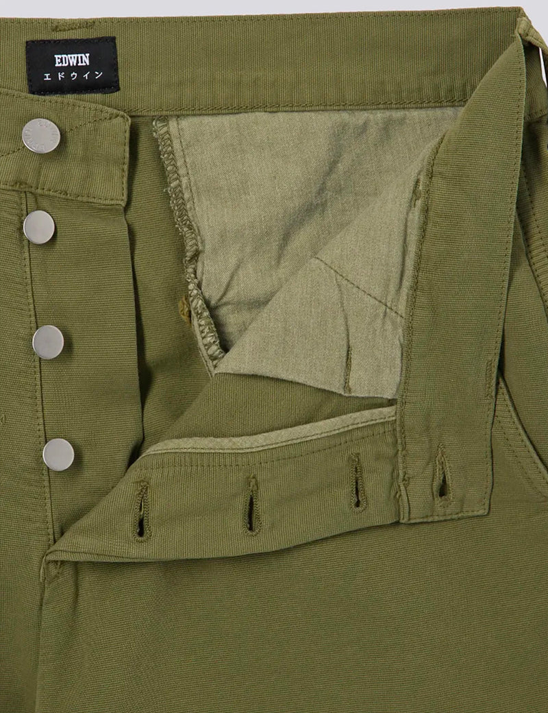 Edwin 45 Combat Pant - Military Green, Garment Dyed
