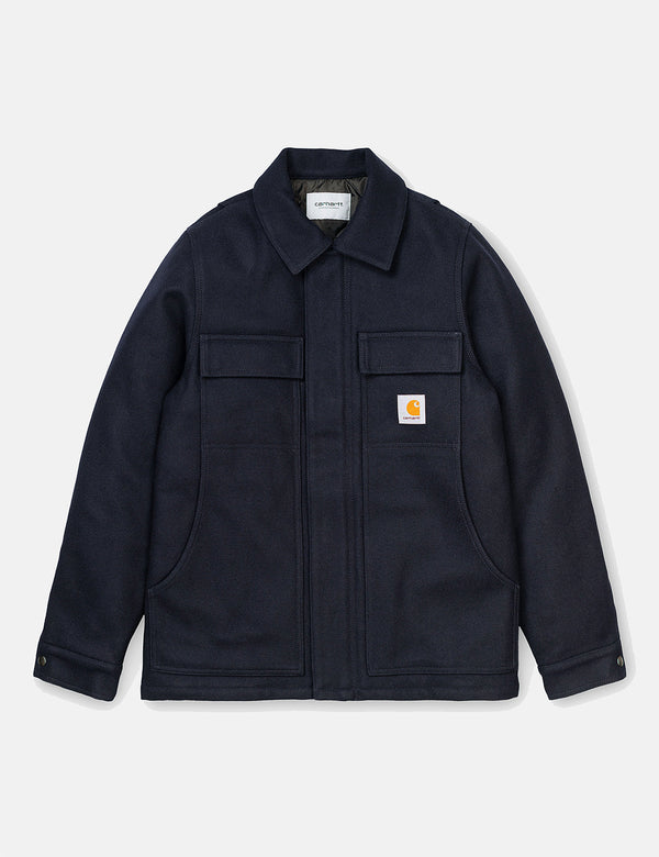 Carhartt-WIP Wool Arctic Coat - Dark Navy Blue
