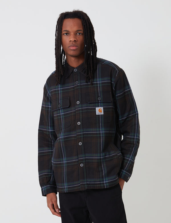 Carhartt-WIP Aiden Shirt Jacket - Aiden Check, Soot