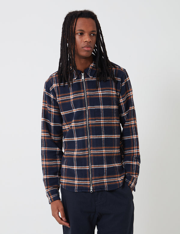 Carhartt-WIP Bryan Shirt (Bryan Check) - Dark Navy/Blacksmith