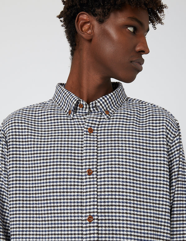 Carhartt-WIP Thorne Shirt Cotton (Thorne Houndstooth) - Tobacco/Wax