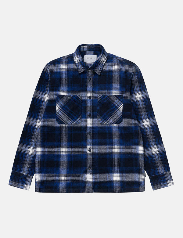Carhartt-WIP Nigel Check Shirt - Lapis Blue