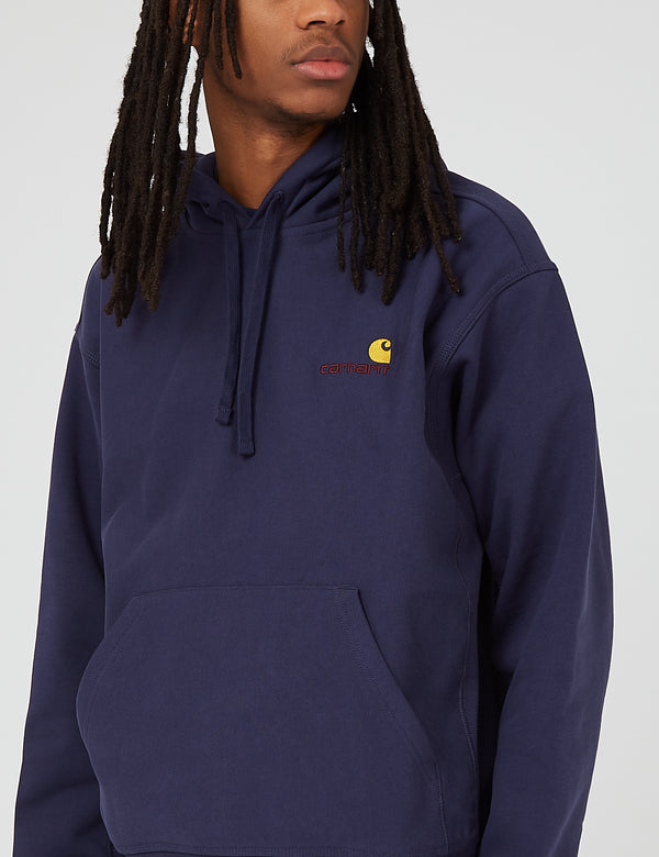 Carhartt-WIP Hooded American Script Sweatshirt - Space