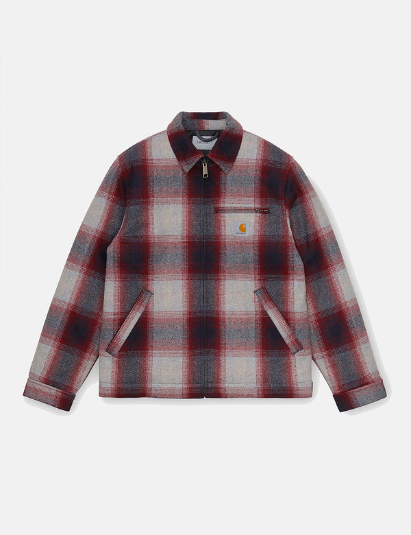 Carhartt-WIP Detroit Vermont Jacket (Vermont Check) - Dark Navy/Bordeaux